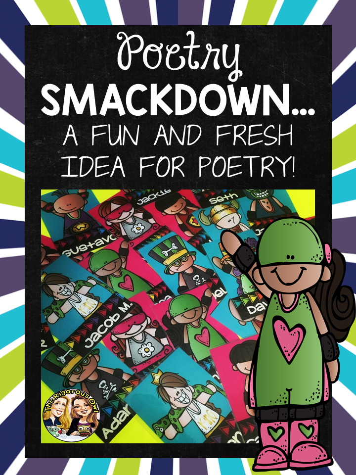 Poetry Smackdown Trading Cards for Bulletin Board
